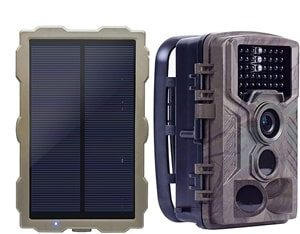 ECO LLC Hunting Trail Camera with Portable Solar Panel Charging
