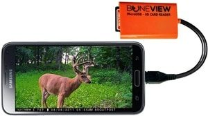 BoneView SD Card Reader for Android - Smartphone Trail Camera Viewer Plays Deer Hunting Game Cam Photo & Video Memory Chips